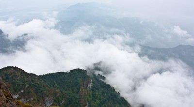 View from the summit of Mt. Emei