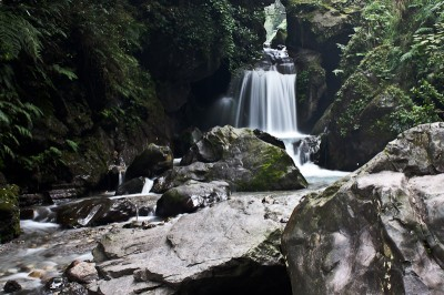 Waterfall in the valley