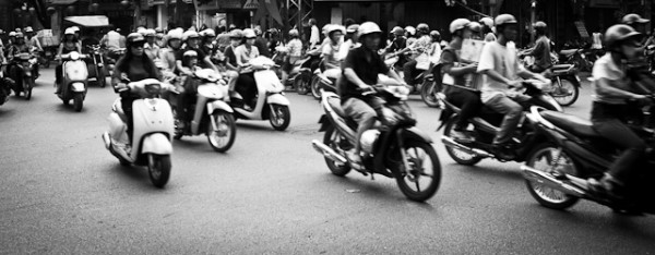 Motorbike invasion in Hanoi