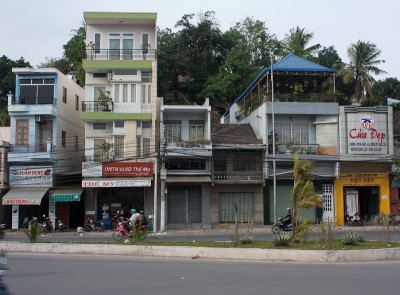 Typical narrow Vietnamese houses