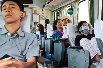 On the train from Saigon to Mui Ne