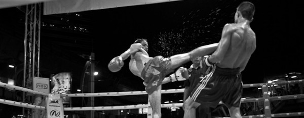 Muay Thai at the MBK fight night.