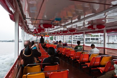Express boat along the Chao Phraya River in Bangkok