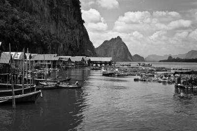 Ko Panyi, fishing village in Thailand. Only accessible by boat.