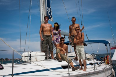 Crew from the sailing trip Singapore to Bali