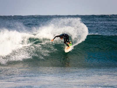 Surfing at Maroubra beach, Sydney