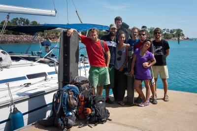 The crew at the marina in Darwin