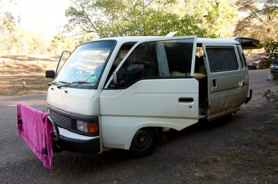 Starting a road trip from Darwin to Cairns in this Van